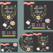 Bridal Shower card.Cute wedding invitation with flowers — Stock Photo #50173827