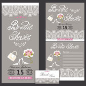 Bridal shower design  template with Paisley border.eps — Стоковое фото
