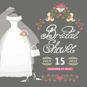 Bridal Shower card.Cute wedding invitation with flowers — Stock Photo