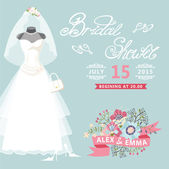 Bridal Shower card — Stock Photo