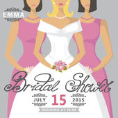 Bridal shower invitation — Stock Photo