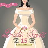 Hotel bridal shower zaproszenia — Zdjęcie stockowe
