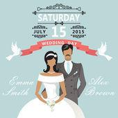 Bröllopsinbjudan — Stockfoto