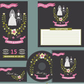 Wedding design template set — Stock Photo