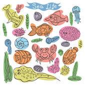 Sea fish and crabs — Stock Photo