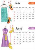календарь европейской моды — Стоковое фото