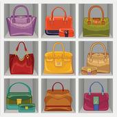 Colorful fashion handbags — Stock Photo