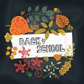 Zurück zu Schule-Entwurfsvorlage — Stockfoto