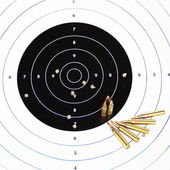 Paper rifle target. — Stock Photo