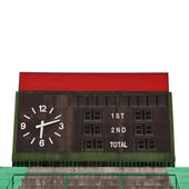 Score board at football stadium — Stock Photo