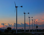 Turbine producing renewable energy, at Thailand. — Stock Photo
