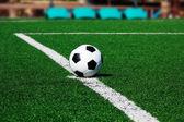 Bola de futebol, campo de futebol — Fotografia Stock