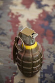 Hand grenade isolated over a white background — Stock Photo