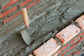 Ute trowel tool for construction mason — Foto Stock