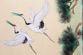 Art Chinese style painting on the wall in temple,Thailand.Gen er — Stock Photo