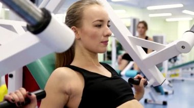Gym Work Out, Young Woman — Stock Video