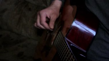 Guitarist,hippy, longhair,musician — Stock Video