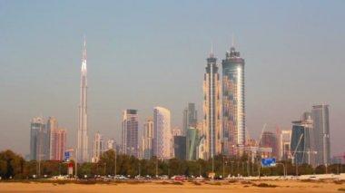Dubai.UAE.Burj Khalifa,The Dubai Mall  in February 2014.The Palace Downtown.Al Safa. — Stock Video
