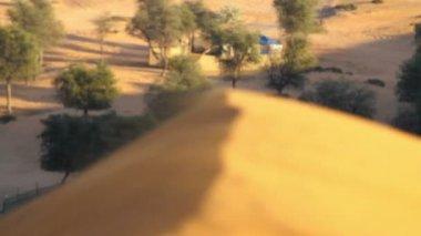 沙漠景观,在沙漠里的沙丘 — 图库视频影像