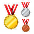 Three Medals — Stock Vector