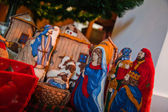 Nativity scene crib — Stock Photo