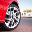 Car wheel in summer — Stock Photo #37916571