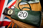 Vintage bag in store — Stock Photo