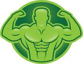 Bodybuilder model illustration — Wektor stockowy