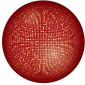 Vector illustration of big, red disco ball — Stockvektor