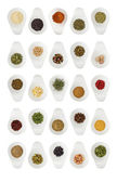 Different spices in cups — Stock Photo