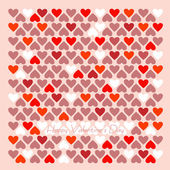 Red paper Valentines day card — Stock Vector