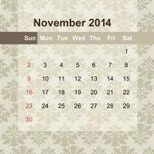 Calendar to schedule monthly 2014 — Stock Vector