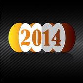 Happy new year 2014 greeting card design. — Wektor stockowy