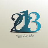 Design de cartão de feliz ano novo 2013. — Vetor de Stock