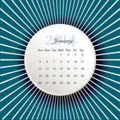 Calendar to schedule monthly 2014 — Stock Vector