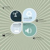 Infographics design elements — Stock Vector