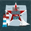 Happy Columbus Day american — Stock Vector