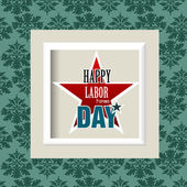 Happy Labor Day american — Stock Vector