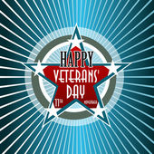 Happy Veterans Day american — Vettoriale Stock