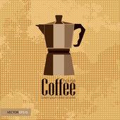 Kaffee Haus Hintergrund — Stockvektor