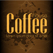 Coffe house background — Stock Vector