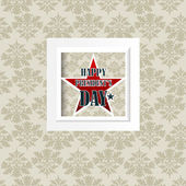 Happy Presidents Day American Background — Vetorial Stock
