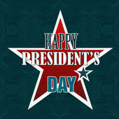 Happy Presidents Day American Background — Stock Vector