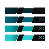 Moderne ontwerpsjabloon is opgeslagen, kan worden gebruikt voor infographics — Stockvector