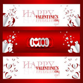 Happy valentines day and weeding cards — Cтоковый вектор