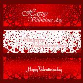 Felice giorno di san valentino carte — Vettoriale Stock