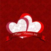 счастливый день святого валентина карты — Cтоковый вектор