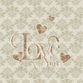 Happy valentines day and weeding cards — Stock vektor