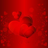 幸せなバレンタインの日カード — ストックベクタ