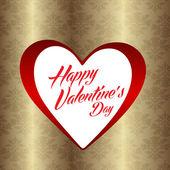 Happy valentijnsdag kaart — Stockvector
